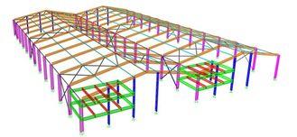 Китай Типа портальных конструкций структурного Инджиниринга железного каркаса, нормального/специального структуры поставщик