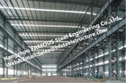 Изготовленные стальные промышленные стальные здания с гальванизированным стальным поверхностным покрытием