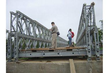 Подгонянный мост Bailey стабилности палубы тимберса стальной/портативный стальной мост CB100, CB200