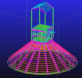 Изготовленное на заказ горячее гальванизированное погружение, водоустойчивые, полуфабрикат стальные конструкции структурного Инджиниринга