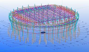 Изготовленные на заказ стальные конструкции структурного Инджиниринга для фабрик, пакгаузов и выставочных залов