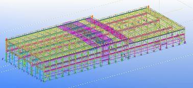 Pre-проектированные полуфабрикат стальные коммерчески конструкции структурного Инджиниринга
